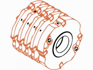 Набор фрезерных головок FABA 1100-3 по дереву