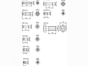 Винт FABA SM-01 для монтирования фрез